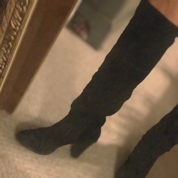 Nine West Shoes - Suede high rise boots